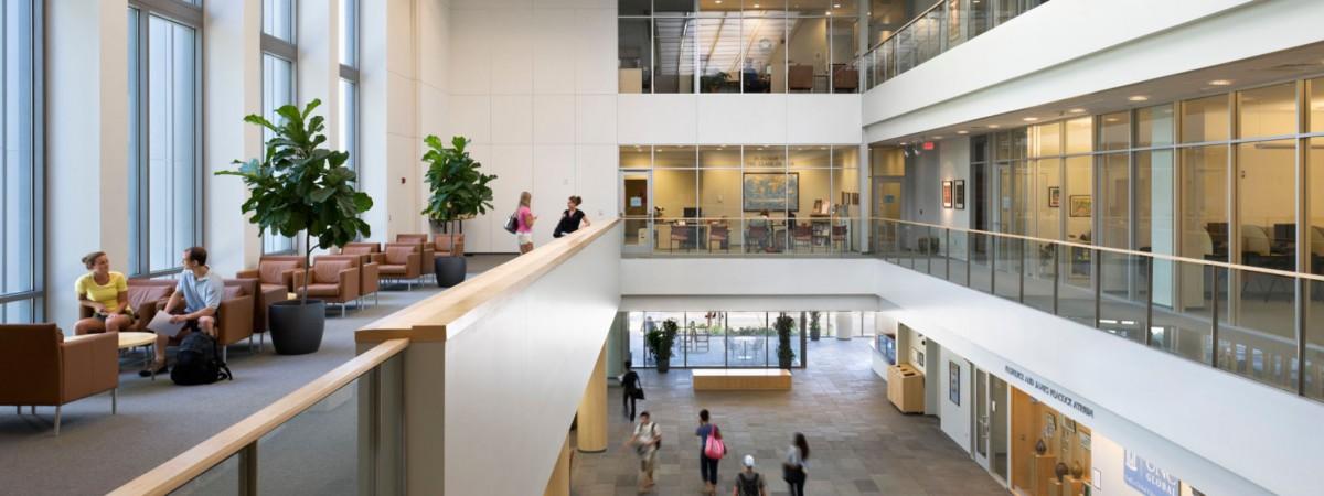View of FedEx Global Education Center atrium