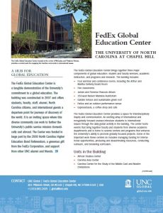 Image of fact about the FedEx Global Education Center. Click to download PDF of fact sheet.