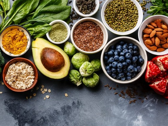 plant foods on a table