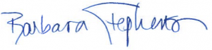 Image of Barbara Stephenson's signature