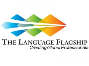 logo with three overlapping diamonds (blue, green, orange) with text: The Language Flagship: Creating Global Professionals