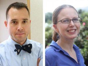 Headshots of William Fischer and Helen Lazear.