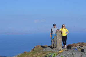 Mihailovich (left) and his associate producer Laura Dodd in the Isle of Eigg.