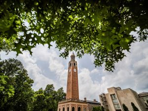 View of the Morehead-Patterson Bell Tower on the University of North Carolina-Chapel Hill