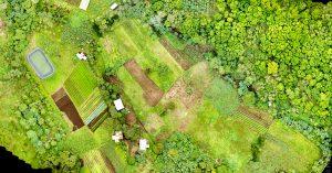 Aerial of farmland.