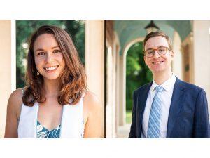 Headshots of Sarah Mackenzie, left and Peter Andringa, right.