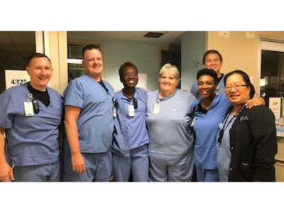 group photo of UNC MICU staff