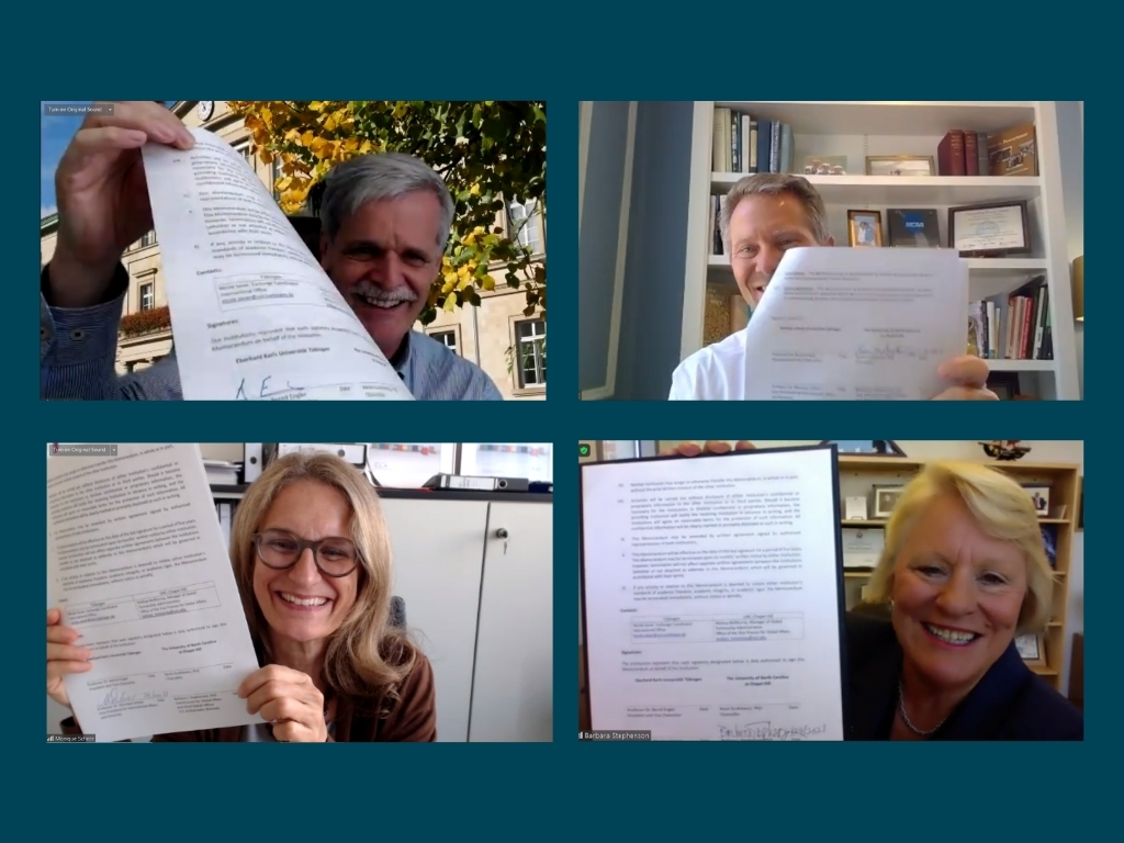 Zoom shots of signatories
