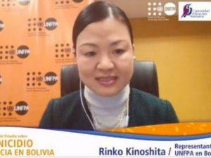 Screenshot of Kinoshita on a video call.